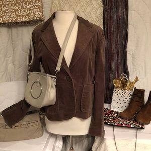 GAP mink brown velveteen Jacket